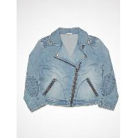 Ladies patched jacket