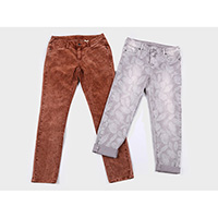 Ladies multi dyed stretch pants