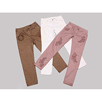 Ladies laced stretch jeans