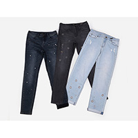 Ladies embellished stretch jeans