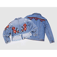 Ladies embroidered stretch jackets